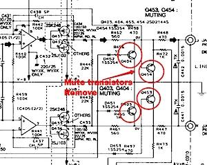Pioneer PD-S505 mute transistors