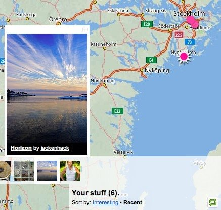 Example of flickr map