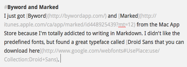 Byword screenshot