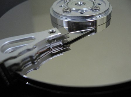 Picture of a hard disk