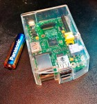 Raspberry Pi in clear case