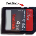 SD card with write protection switch set in the middle photo
