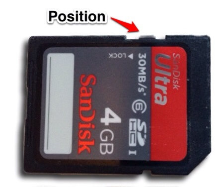 write protected sd card How to lock or unlock an sd card applies step by step instructions on how to adjust write-protection for an sd card the up position will unlock the card.