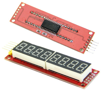 Image of an 8 Digit LED Display SPI controlled MAX7219