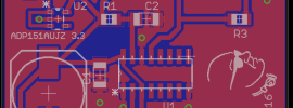 PCB of 1 PPS Pulse Extender