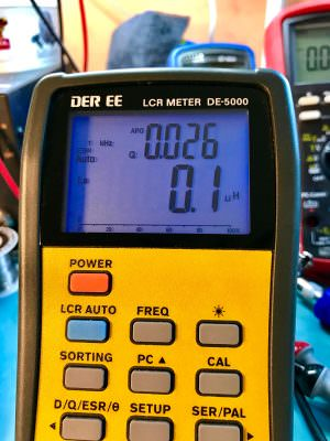LCR Meter Measure Inductance of cable photo