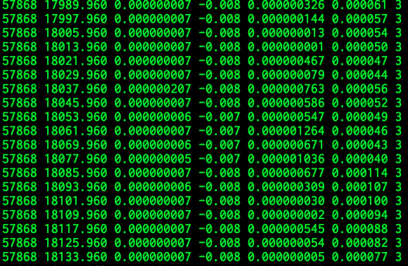 screenshot of the loopstats output on an Odroid C2